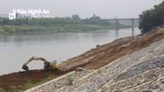 Kè bờ sông Lam bảo vệ trên 1.000 hộ dân trước mùa mưa lũ