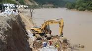 Kè rọ đá bờ sông Lam khắc phục sạt lở Quốc lộ  7A