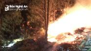 Hàng trăm người chữa cháy rừng trong đêm ở Quỳ Hợp, Thanh Chương