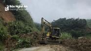 Nhiều tuyến đường ở Nghệ An bị sạt lở sau mưa bão số 2