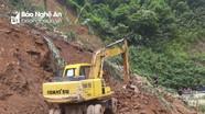 Nghệ An khắc phục sạt lở núi trên các tuyến đường ở miền núi