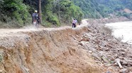 Kỳ Sơn: Đã tạm thông xe tuyến thị trấn Mường Xén đi Mường Ải