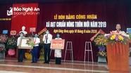 Xã Nghi Công Nam (Nghi Lộc) đón nhận Bằng đạt chuẩn nông thôn mới
