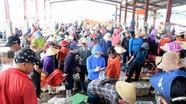 Nghệ An: Cảng cá nhộn nhịp, nhiều người dân thờ ơ với các quy định phòng, chống dịch