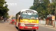 Đình chỉ hoạt động tạm thời xe buýt Đông Bắc tuyến Vinh - Yên Thành