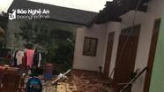 Nghệ An: Lốc xoáy khiến nhiều nhà dân bị tốc mái, cây cối gãy đổ