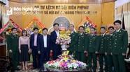 Báo Nghệ An chúc mừng Bộ CHQS tỉnh và Bộ đội Biên phòng nhân ngày truyền thống