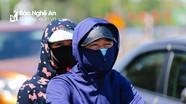 Người dân thành Vinh trong nắng nóng 40 độ