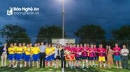 Sôi nổi giao lưu bóng đá giữa Đoàn thanh niên Tỉnh ủy và Hội Doanh nhân trẻ Nghệ An