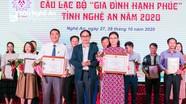 Con Cuông và Hưng Nguyên đạt giải Nhất cuộc thi Câu lạc bộ 'Gia đình hạnh phúc'