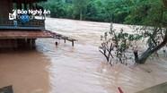 Nghệ An: Lũ lên cao, đường thành sông, nhà ngập trong nước