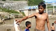 Nghệ An: Dân đổ xô xuống chân đập thủy điện đang xả đáy bắt cá đặc sản