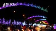 Hệ thống đèn trang trí tết 12 tỷ đồng đẹp lung linh ở Nghệ An