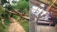 Mưa lớn, lốc xoáy làm tốc mái hàng chục nhà dân ở vùng cao Nghệ An