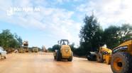 Nghệ An: Không khí thi công nhộn nhịp dự án trọng điểm đường ven biển
