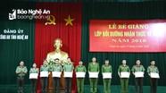 Đảng ủy Công an Nghệ An bế giảng lớp bồi dưỡng nhận thức về Đảng năm 2018