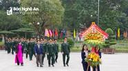 Bộ CHQS tỉnh dâng hoa, dâng hương tưởng niệm Chủ tịch Hồ Chí Minh và các anh hùng liệt sỹ