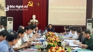 Đoàn kiểm tra của Bộ Chính trị làm việc với Thành ủy Vinh và Huyện ủy Hưng Nguyên