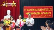 Quỳnh Lưu: Bổ nhiệm và bổ nhiệm lại một số trưởng, phó phòng UBND huyện
