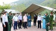 Đồng chí Nguyễn Xuân Sơn kiểm tra công tác phòng, chống dịch Covid-19 tại Kỳ Sơn