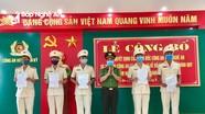 Hơn 50 cán bộ công an chính quy ở Nghệ An được điều động đảm nhiệm các chức danh công an xã