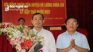 Đô Lương bầu Chủ tịch UBND huyện