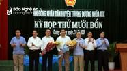 Tương Dương bầu Phó Chủ tịch HĐND và UBND huyện