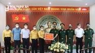 Chủ tịch Ủy ban MTTQ tỉnh thăm, động viên lực lượng phòng, chống dịch Covid-19 tại TX Hoàng Mai