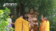 Chùa Đức Hậu đón Lễ an vị tượng Phật Di Lặc bằng đồng