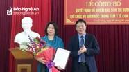 Công bố quyết định bổ nhiệm Giám đốc Trung tâm Y tế huyện Con Cuông