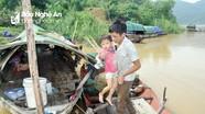 Cuộc sống cơ cực của xóm vạn đò trên sông Lam mùa nước lũ