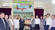 Ủy ban Đoàn kết công giáo Nghệ An chúc mừng năm mới Tỉnh ủy, UBND tỉnh, UBMTTQ tỉnh