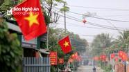 Những con đường rợp cờ hoa mừng Đảng, mừng Xuân ở Nghệ An