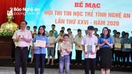 Trao 53 giải cho các thí sinh tại Hội thi Tin học trẻ tỉnh Nghệ An năm 2020