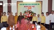 Ủy ban MTTQ tỉnh chúc mừng Ban Trị sự Giáo hội Phật giáo Nghệ An nhân lễ Vu Lan