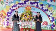 Trưởng Ban Tuyên giáo Tỉnh ủy dự 'Ngày hội đến trường của bé' ở Trường Mầm non Hưng Châu