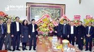 Lãnh đạo tỉnh chúc mừng Giáng sinh tại đền Thánh An Tôn và Giáo xứ Trại Gáo