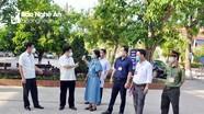 Phó Chủ tịch UBND tỉnh kiểm tra các điểm thi lớp 10 tại TP. Vinh và Hưng Nguyên