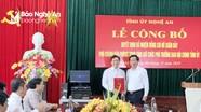 Công bố Quyết định bổ nhiệm Phó Trưởng ban Ban Nội chính Tỉnh ủy Nghệ An