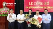 Yên Thành công bố quyết định bổ nhiệm Trưởng Ban Tổ chức, Trưởng Ban Dân vận