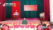 Bộ Chỉ huy Quân sự tỉnh giới thiệu nhân sự ứng cử đại biểu HĐND tỉnh Nghệ An