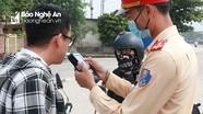 Nghệ An: Phát hiện 4 người vi phạm nồng độ cồn trong buổi đầu tổng kiểm soát giao thông đường bộ