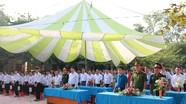 Chỉ huy trưởng Bộ chỉ huy Quân sự tỉnh dự lễ khai giảng năm học mới ở Anh Sơn