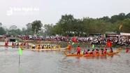 Màn đua thuyền kịch tính trên hồ Diệu Ốc