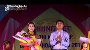 Nữ sinh lớp 11 đạt giải Nhất cuộc thi người đẹp Lễ hội Đền Đức Hoàng
