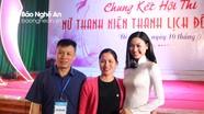 Đào Thị Hà rạng rỡ làm giám khảo tại cuộc thi người đẹp Đô Lương