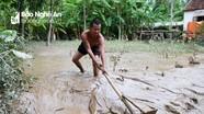 Nghệ An: Sau lũ, người dân vùng hạ du ngập trong bùn, rác