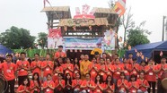 """Thanh thiếu niên phật tử Nghệ An tham gia Hội trại """"Tuổi trẻ và Phật giáo"""" tại Hà Nội"""