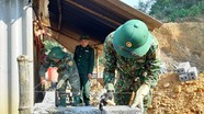 Bộ đội biên phòng giúp dân xây dựng nhà 'Đại đoàn kết'