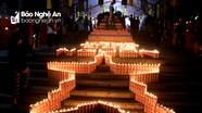 Hàng nghìn ngọn nến lung linh trong đêm Đại lễ cầu siêu tri ân dịp 27/7 ở Nghệ An